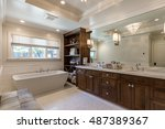 custom clean bathroom with... | Shutterstock . vector #487389367