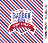 Vintage Emblem Of Barber Shop