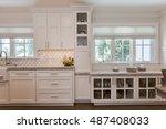 custom kitchen cabinets  | Shutterstock . vector #487408033