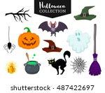 Vector Set Of Halloween Hand...
