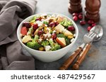 fall salad with apple ... | Shutterstock . vector #487429567