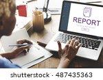 report digital homescreen... | Shutterstock . vector #487435363