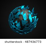 abstract 3d rendering of low... | Shutterstock . vector #487436773