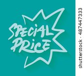 special price text ... | Shutterstock .eps vector #487447333