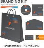 branding kit  high quality... | Shutterstock .eps vector #487462543