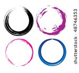 four different grunge circle... | Shutterstock .eps vector #48746353