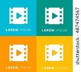 film four color material... | Shutterstock .eps vector #487474567