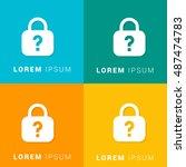 forgot password four color... | Shutterstock .eps vector #487474783