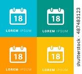18th calendar four color...