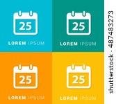 25th calendar four color...