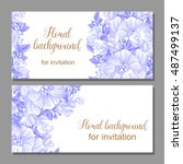 vintage delicate invitation... | Shutterstock .eps vector #487499137
