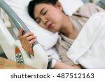 pregnant woman patient feeling...   Shutterstock . vector #487512163