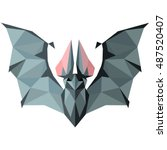 bat. low poly bat . low poly... | Shutterstock .eps vector #487520407