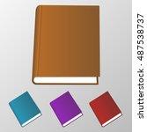 isolated 3d books illustration. ... | Shutterstock .eps vector #487538737