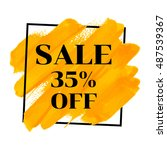 sale 35  off sign over abstract ... | Shutterstock .eps vector #487539367