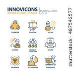 business and finance   modern... | Shutterstock . vector #487542577