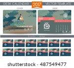 design desk calendar 2017.... | Shutterstock .eps vector #487549477