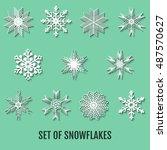 snowflakes set. background for... | Shutterstock .eps vector #487570627