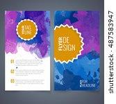 abstract vector brochure... | Shutterstock .eps vector #487583947