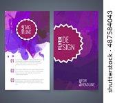 abstract vector brochure... | Shutterstock .eps vector #487584043