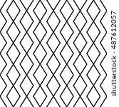 rhombus pattern  abstract...   Shutterstock .eps vector #487612057