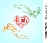 family relations word cloud | Shutterstock .eps vector #487627447