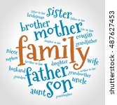family relations word cloud | Shutterstock .eps vector #487627453