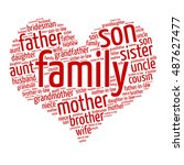 family relations word cloud | Shutterstock .eps vector #487627477