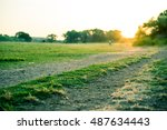focus on outdoor cross country... | Shutterstock . vector #487634443