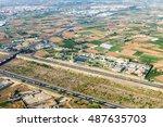 aerial photo of valencia city... | Shutterstock . vector #487635703