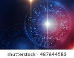 backdrop design of sacred... | Shutterstock . vector #487644583