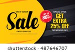 sale banner template design | Shutterstock .eps vector #487646707