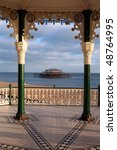 brighton east pier seen through ...