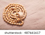 closeup of rolled indian japa... | Shutterstock . vector #487661617