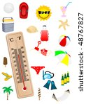 illustration of a thermometer...   Shutterstock .eps vector #48767827