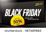 black friday sale banner | Shutterstock .eps vector #487689883