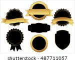 label vector icon set black... | Shutterstock .eps vector #487711057