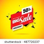 big sale label design | Shutterstock .eps vector #487720237