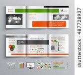white business brochure... | Shutterstock .eps vector #487728937