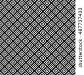 vector geomatric pattern.... | Shutterstock .eps vector #487737433