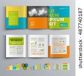color business brochure... | Shutterstock .eps vector #487740187