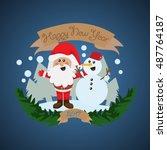 santa claus greeting card  ...