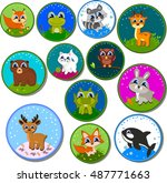 set of stickers. big collection ... | Shutterstock .eps vector #487771663