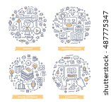 doodle vector illustrations of...   Shutterstock .eps vector #487775347