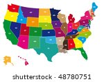detail color map of usa with...   Shutterstock .eps vector #48780751