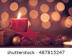 christmas decoration with... | Shutterstock . vector #487815247