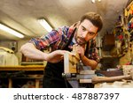 profession  carpentry  woodwork ... | Shutterstock . vector #487887397