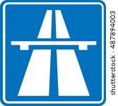 traffic signs motorway   Shutterstock .eps vector #487894003