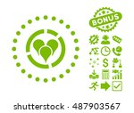 geo diagram icon with bonus... | Shutterstock .eps vector #487903567
