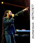 Small photo of Bestival - September 10th 2016: Jamaican reggae artist Damian Marley, son of Bob Marley, performing live on the main stage at Bestival, Newport, Isle of Wight, September 10, 2016 on Isle of Wight, UK
